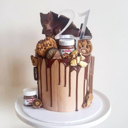 21st Birthday, Nutella Drip Cake