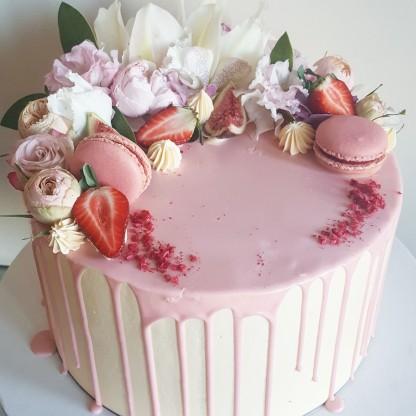Birthday Cake, Crescent Shaped Decoration